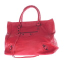 Authentic BALENCIAGA  With logo Shoulder Bag Leather