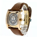 Authentic BVLGARI Assioma Hours AAP48GHR Watch 18K pink gold Leather an automatic Men