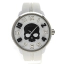Authentic Tendence Skull Watch Stainless Rubber Quartz Men