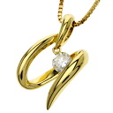 SELECT JEWELRY diamond necklace K18 yellow gold Lady's fs04gm