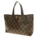 CHANEL here mark stitch design tote bag leather Lady's fs04gm