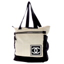 Authentic CHANEL  New Travel Line Tote Bag Nylon jacquard