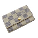 Authentic LOUIS VUITTON  Multicles6 N61745 Key case Damier canvas