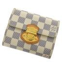 Authentic LOUIS VUITTON  Portefeiulle Joy M60211 Bifold Wallet with Coin Pocket Damier canvas
