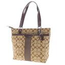 Authentic COACH  Signature pattern Shoulder Bag X enamel canvas