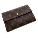 Authentic LOUIS VUITTON  Porte TresorEtui Papie M61202 Bifold Wallet with Coin Pocket Monogram canvas