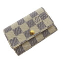 Authentic LOUIS VUITTON  Multicles N61745 Key case Damier canvas
