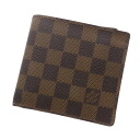 Authentic LOUIS VUITTON  Portefeiulle · Marco N61675 06 Bifold Wallet with Coin Pocket Damier canvas