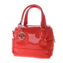 Authentic LANVIN  Simple design logo Charm Handbag Enamel