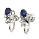 Sapphire Earring PlatinumPT850  3.9