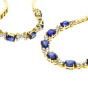 8.269ct Breath set Sapphire Necklace 18K yellow gold  36.5