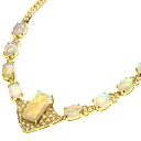 Opal Necklace 18K yellow gold  31.4