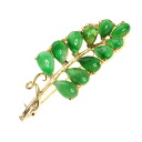 Jade Brooch 18K yellow gold  4.6