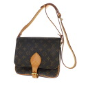 Authentic LOUIS VUITTON  Cartouchiere26 M51252 2-layer Shoulder Bag Monogram canvas
