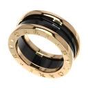 Authentic BVLGARI  B-zero1 Ring 18K pink gold Ceramic