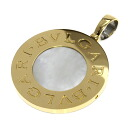 Authentic BVLGARI  B · B Shell / onyx Pendant 18K yellow gold SS