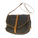 Authentic LOUIS VUITTON  Saumur L M42254 Shoulder Bag Monogram canvas