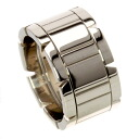 Authentic CARTIER  Tank Francaise LM Ring 18K White Gold
