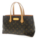 Authentic LOUIS VUITTON  Wilshire PM M45643 Handbag Monogram canvas