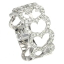 Authentic Ponte Vecchio  Heart Diamond Ring 18K White Gold
