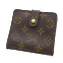 Authentic LOUIS VUITTON  Compact Zip Zip Around M61667 Bifold Wallet with Coin Pocket Monogram canvas