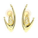 0.07ct Diamond Earring 18K yellow gold  5.9