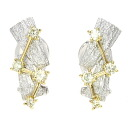 0.231ct Diamond Earring 18K yellow gold Pt900 5.7