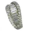 1.54ct Diamond Ring 18K White Gold  Eight