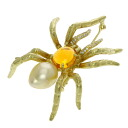 2.22ct Opal diamond Brooch 18K yellow gold  16.3