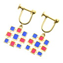 Authentic MIKIMOTO  Square Earring 18K yellow gold