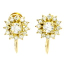 0.27ct Diamond Earring 18K yellow gold  3.3