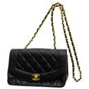 Authentic CHANEL  Matelasse Shoulder Bag Leather