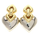 Authentic BVLGARI  Doppio Cuore Earring 18K yellow gold