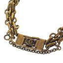 Authentic CHANEL  COCO Mark Chain Bracelet Metal