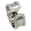 Authentic CARTIER  C2 ring diamond AV8655 Ring 18K White Gold