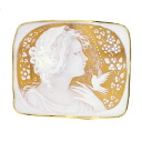 SELECT JEWELRY cameo pettanko runnyce brooch K18 18kt yellow gold ladies fs04gm
