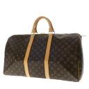 Authentic LOUIS VUITTON  Keepall 50 M41416 double zipper Boston bag Monogram canvas