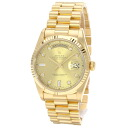 Authentic ROLEX Day-18238A Overhauled 10P diamond Watch 18K Yellow Gold  Mechanical Automatic Men