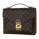 Authentic LOUIS VUITTON  Monceau 28 M51185 business bag Monogram canvas