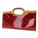 Authentic LOUIS VUITTON  Rokusubari Drive M91987 2way Handbag Vernis