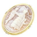 Cameo Pendant 18K Yellow Gold Pt900 Eighteen