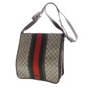 Authentic GUCCI  Seat angle webbing line GGpattern Shoulder bag PVC