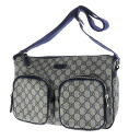Authentic GUCCI  GGpattern seat angle Shoulder bag PVC