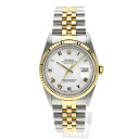 Authentic ROLEX Oyster Perpetual Datejust 16233 Overhauled Watch stainless steel 18K Yellow Gold Self-winding Men