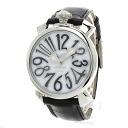 Authentic Gaga Milano Manuare 40 Watch stainless steel Leather Quartz Men