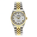 Authentic ROLEX Oyster Perpetual Datejust 16233 Watch stainless steel 18K Yellow Gold Self-winding Men