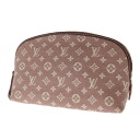 Authentic LOUIS VUITTON  M40376 half-moon Pochette Cosmetic Cosmetics Pouch Monogram Lee Deal