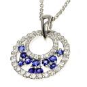 0.36ct Sapphire Necklace PlatinumPT850  6.4