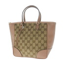 Authentic GUCCI  GGpattern Handbag Canvas