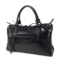 Authentic SELECT BAG  Alligator Matt Long zipper Charm Handbag Crocodile